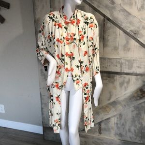 Vintage Asian cream top and coat